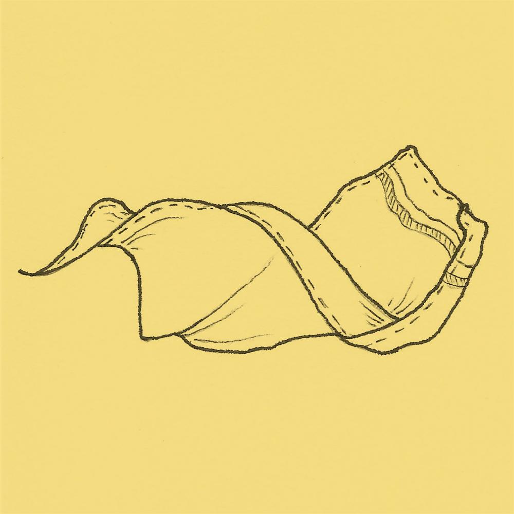 Stofftaschentuch im Wind Gelb