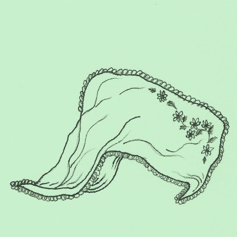 Stofftaschentuch im Wind Grün