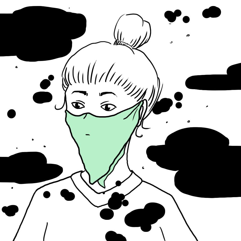 Taschentuch als Staubschutz