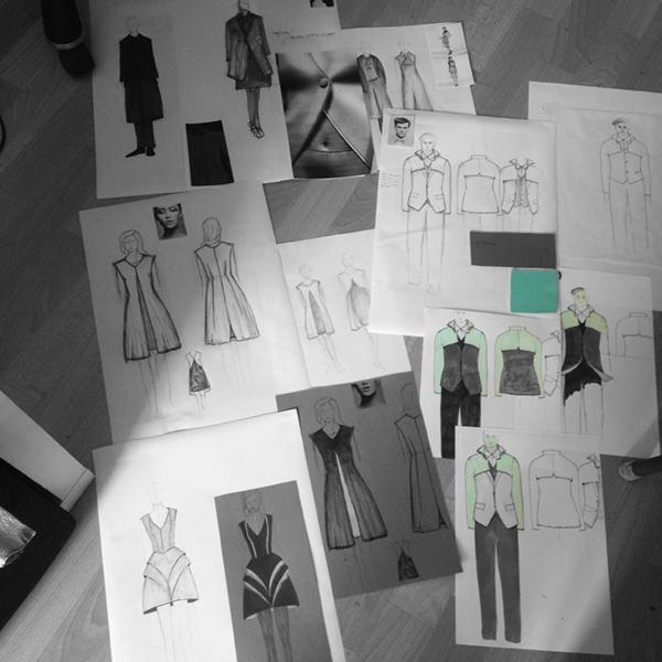 """Kostümentwürfe für das Stück """"Doctor Faustus Lights The Lights"""""""