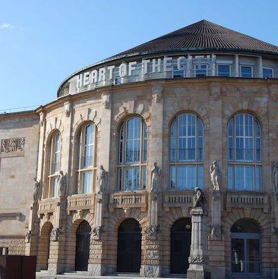 Theater Außenansicht Architektur Theater Freiburg