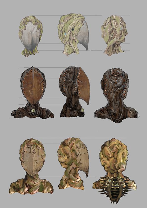 Waldgeister Kopfvarianten